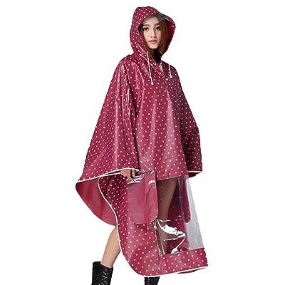Buauty Womens Moto Rain Cover, cape de pluie, Poncho de pluie, imperméables capuche