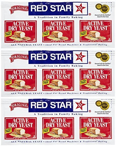 (Red Star GlutenFree Active Dry Yeast, 0.75 oz, 3 ct, 3 pk by Red Star)