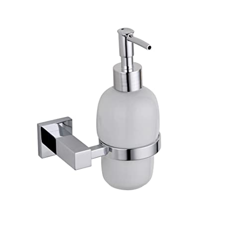 chrome metal square bathroom accessories soap dispenser amazoncouk kitchen u0026 home