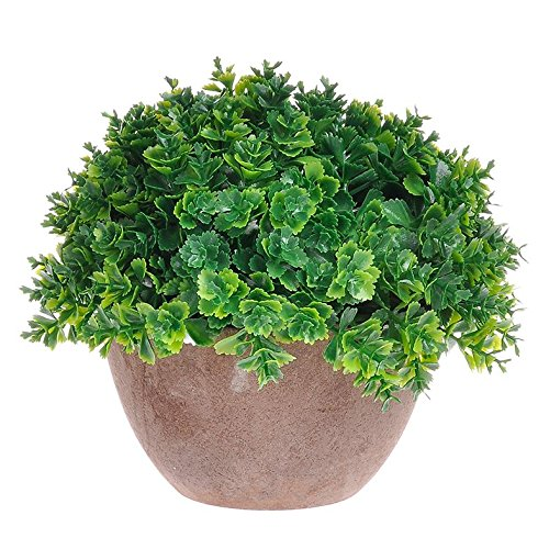 Supla 1 Pcs Mini Modern Artificial Topiary Plant Potted plant Ball Shrubs Plant in Retro Pot Top Plant in Planter Mini Plastic Artificial Green Plants Lucky Grass Fake Plant in Pot Potted plants