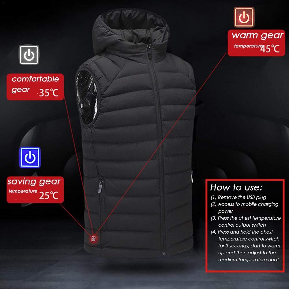 Amazon.com: Chaleco de calefacción para hombres – chaleco de ...