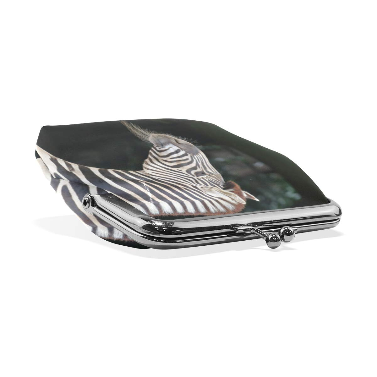 CLveg Coin Purse Card Package Coin Leather for Women Printing Series Zebra