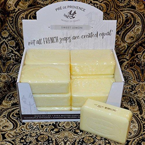 Case of 12 Pre de Provence SWEET LEMON scent 250 gram shea butter extra large soap bars