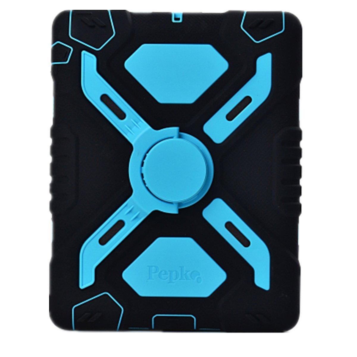 New Robuste R/¨/¦sistant aux Chocs salet/¨/¦ Neige Sable Proof Survivor Extreme Heavy Duty Enfant Cadeau Pochette avec Support pour Apple iPad Mini 1 2 3 Meiya iPad Mini Coque Black+Black
