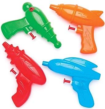 Baker Ross Pistolas de agua espaciales (pack de 4) para bolsas ...