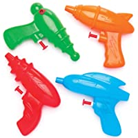 Baker Ross Space Shooter Water Pistols (Pack of 4) for Kids Party Bag Fillers