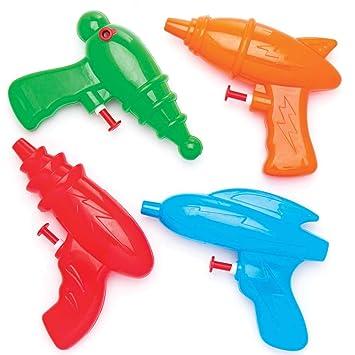 Baker Ross Pistolas de agua espaciales (pack de 4) para bolsas sorpresa infantiles