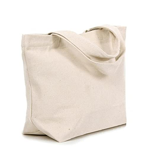 25aec3f1d65 ZUZURUNS Natural Cotton Reusable Grocery Bags Washable Fabric Canvas Tote  Shopping Bag Large Capacity Shoulder Bag Heavy Duty Foldable Handbags