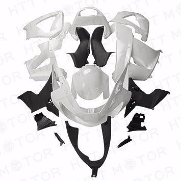Fairing Fit Compatible with HONDA CBR 929RR CBR900RR 2000 2001 Unpainted White Plastic Kit HTTMT H0901