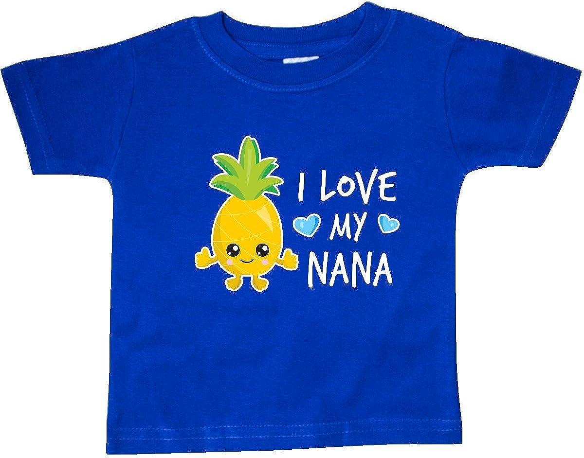inktastic I Love My Nana with Pineapple Baby T-Shirt