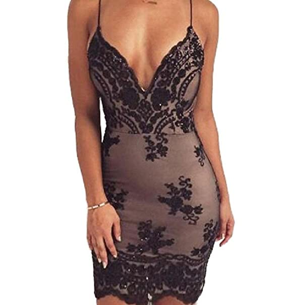 74f428ecbcee Comfy-Women Sequin Backless Plunge V-Neck Straps Sexy Simple Bodycon Pencil  Long Dress at Amazon Women's Clothing store: