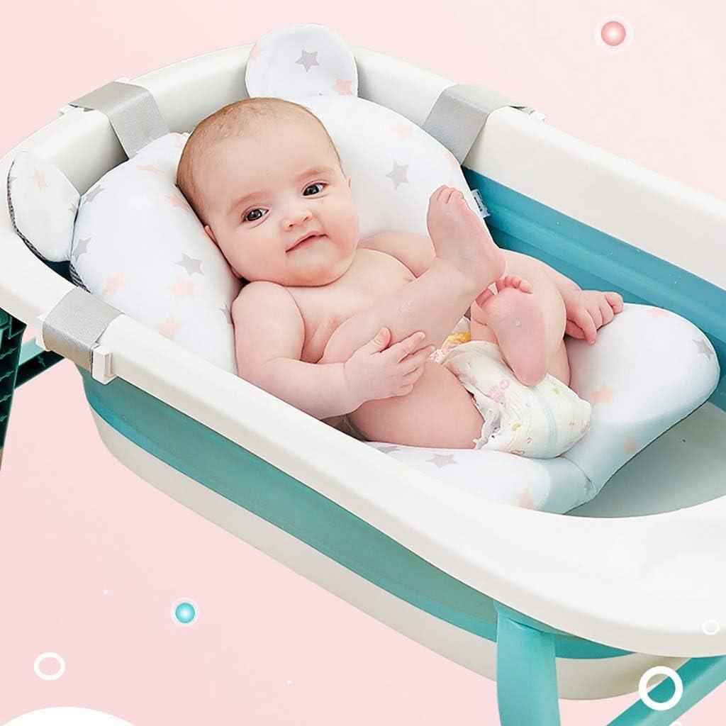 Alfombrilla de ba/ño para beb/é Baby Bath Soporte Ocioso del Reci/én Nacido d ba/ño del beb/é del asiento Mat textuales Ducha Ba/ñera for beb/és Mat plegable del beb/é tina de ba/ño del coj/ín