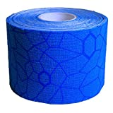 TheraBand Kinesiology Tape, Waterproof Physio Tape for Pain Relief, Muscle & Joint Support, Standard Roll with XactStretch Application Indicators, 2 Inch x 16.4 Foot Roll, Blue/Blue