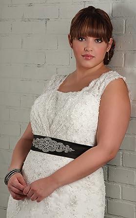 Elegant 2011 Lace Wedding Dress With Black Sash At Amazon Womens