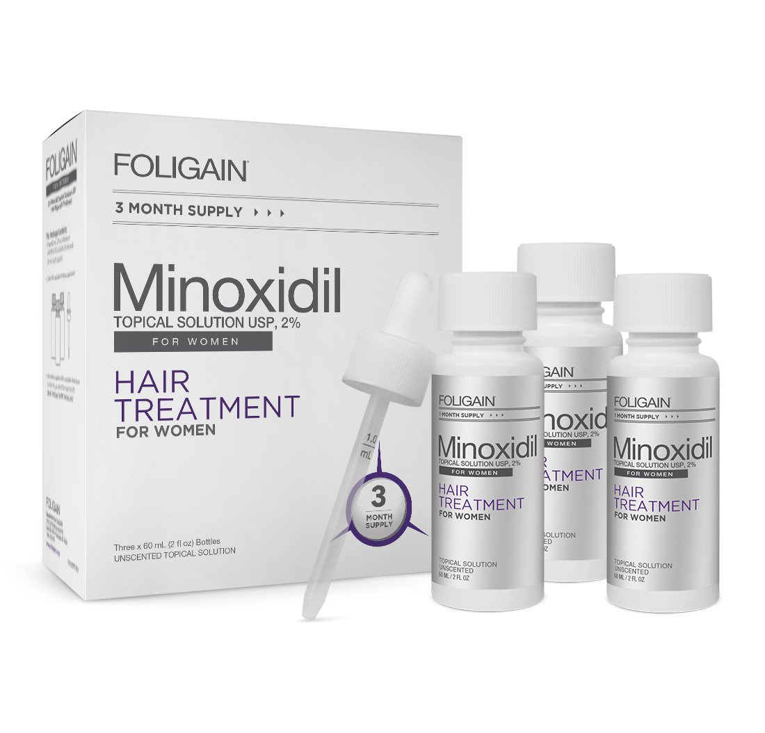 FOLIGAIN MINOXIDIL 2% HAIR REGROWTH TREATMENT For Women 3 Month Supply