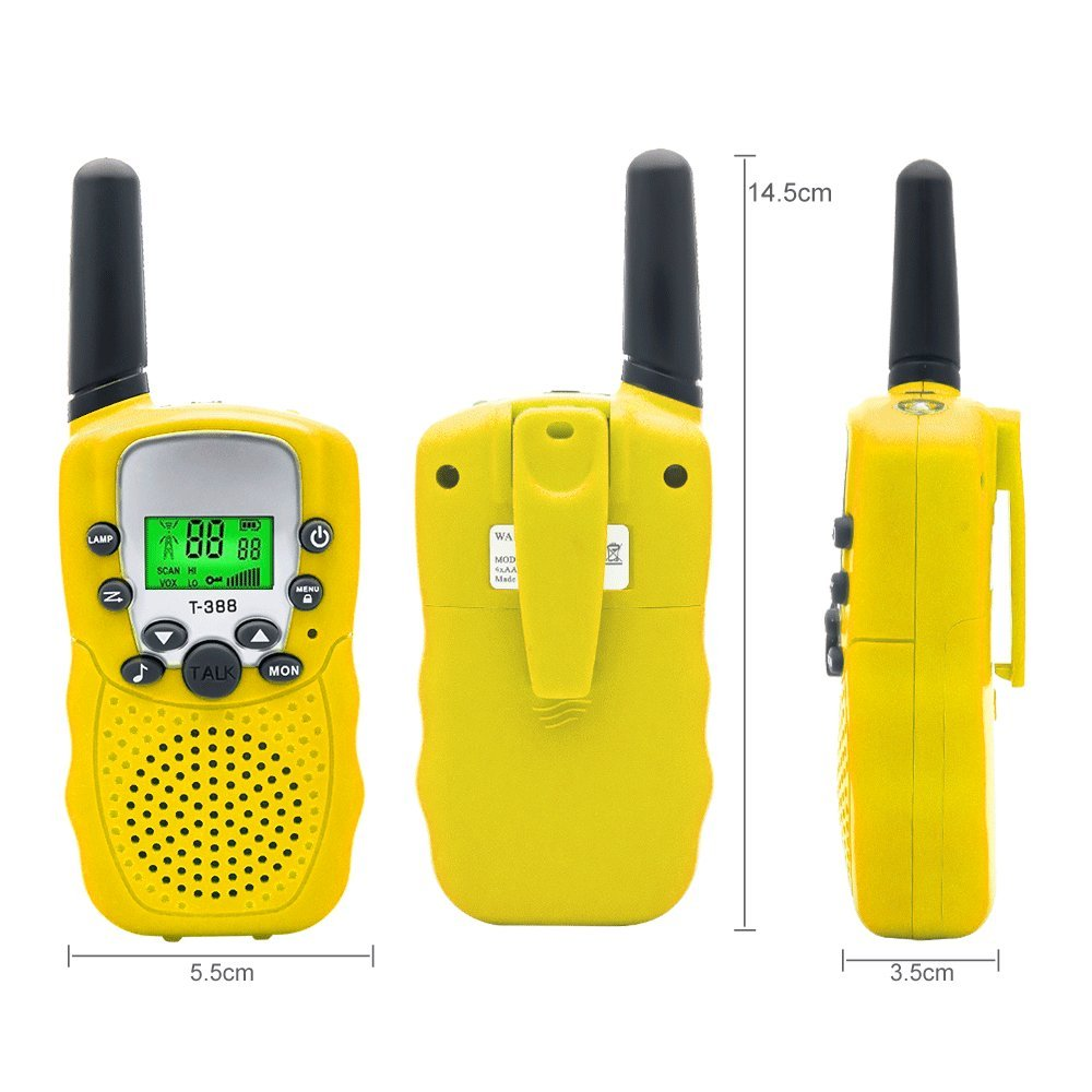 TOP-MAX Walkie Talkies Speaker for Kids Up Walkie Talkie Toy Intercom to 3 KM Long Range 22 Channel 2 Way UHF Radios with Flashlight Walky Talky Set Outdoor Adventures Camping