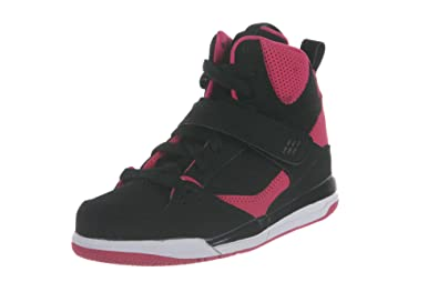 timeless design 695c2 55dd6 JORDAN KIDS GIRLS FLIGHT 45 HIGH GP BLACK VIVID PINK WHITE SIZE 11