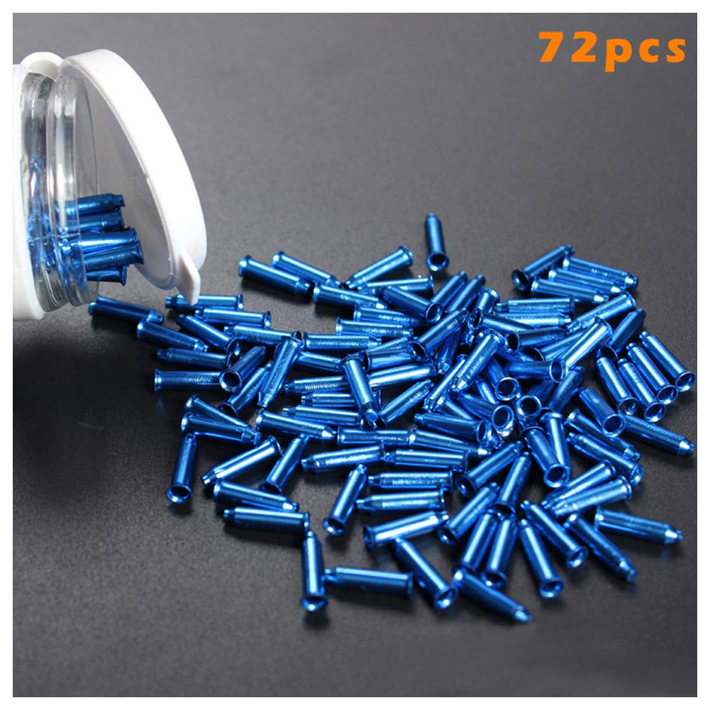 Henreal Bicycle Wheel 72 Pieces//Pack of Aluminium Alloy Nipple Spokes for Bicycle Wheel gold