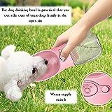 Decdeal Portable Pet Dog Water Bottle, Leak Proof
