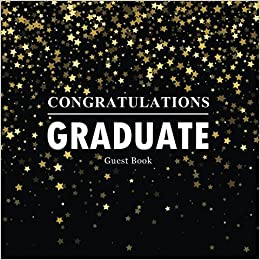 congratulations graduate guest book congratulatory message book