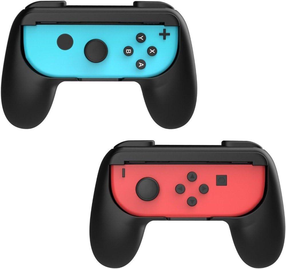 Nintendo Switch EIMGO Joy-Con Grips for Nintendo Switch, Wear-Resistant Joy-con Handle for Nintendo Switch, 2 Pack (Black)