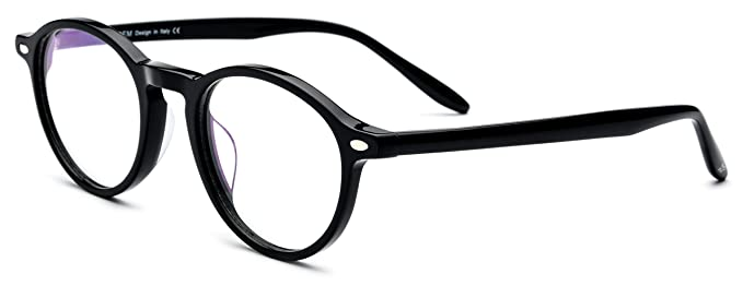6e6461fb819e HEPIDEM Women Vintage Round Optical Glasses Frame Spectacles with Acetate  9103 (Black)