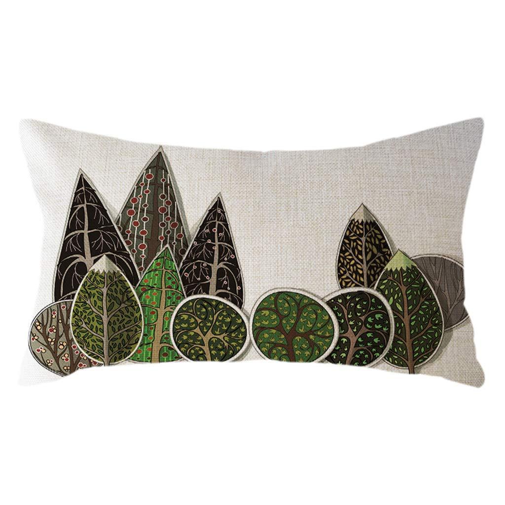 Minimalist Geometric Pillow Case Linen 30x50cm Cushion Cover Home Decor