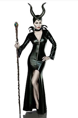 Damen Teufel Kostüm Verkleidung Aus Kleid Halsband Hörnermaske
