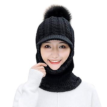 822b6e113 EnjoCho Clearance Sale!New Winter Women's Full Face Mask Hat Caps Scarf Set  Knitted Warm