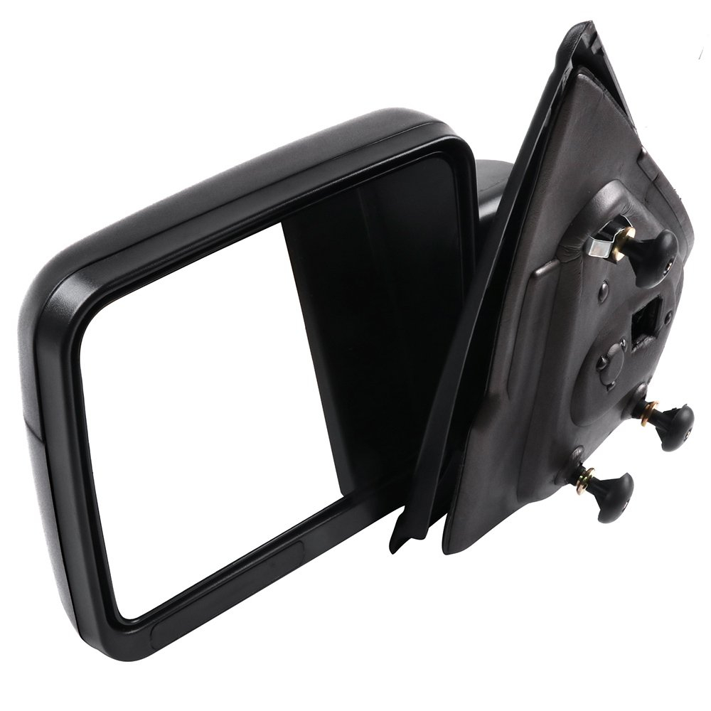 SCITOO Ford F150 Towing Mirror with Black Housing Tow Mirror Compatible Fit for 2004-2014 F150 with Reflector Power Control Heated Manual Folding Driver Left Side