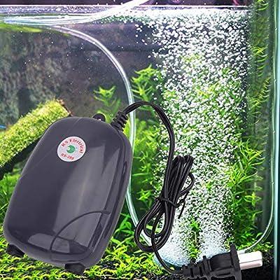 New Air Pump 5W Energy Efficient Aquarium Oxygen,Vovomay Fish Air Tank Pump Super Silent Pumps