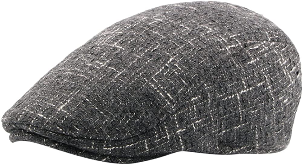 Zhhlinyuan Fashion newsboy Driver Warm Hat Mens Woolen Flat Cap CQ0526