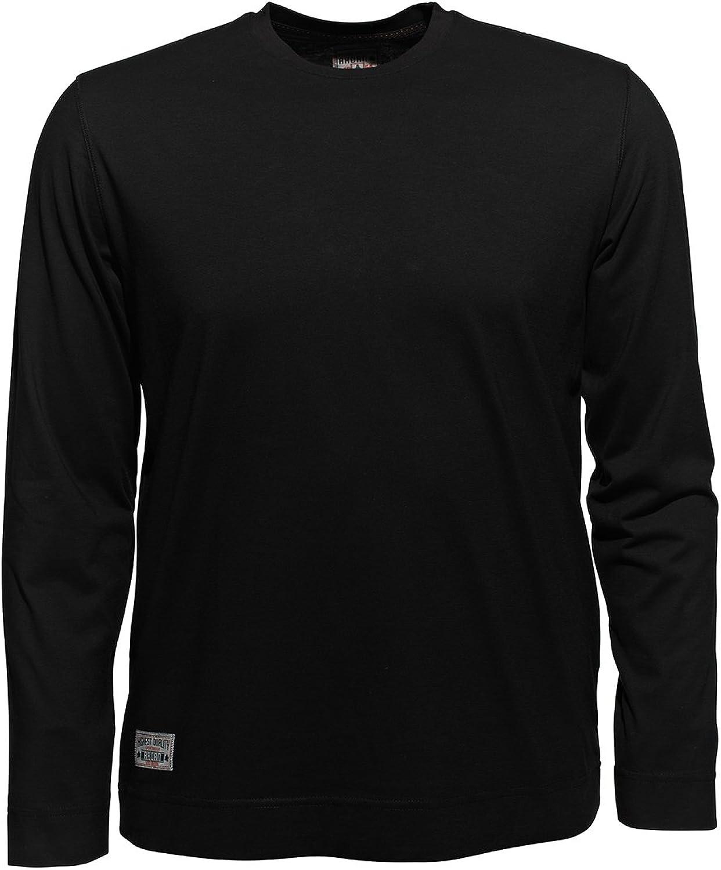 Sweatshirt Herren in Übergrößen 100/% Baumwolle schwarz Langarm Shirt bis 12XL