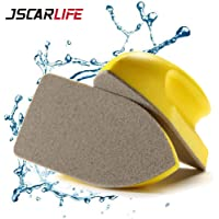 JSCARLIFE Leather Brusher Car Seat Brush Scratch-Free Nanometer Cleaning Brush for Most Leather Furniture Leather Brush…