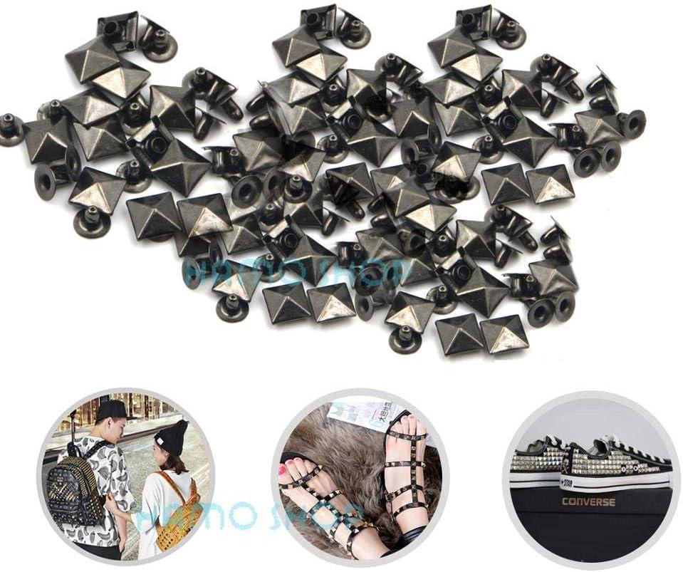 Eimer Kupfer 100 St/ück All Size Style Nieten Spike Studs Spots Nailhead Punk Rock DIY Leder Handwerk f/ür Kleidung Tasche Schuhe Teile Dekoration 5mm