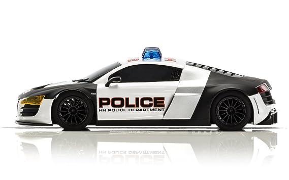 Amazon Com Scalextric Audi R8 Police Car Black White Toys Games