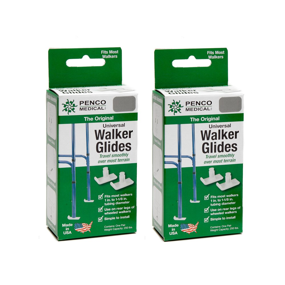Penco Medical Universal Walker Glides - Silver Gray 2 Pairs by Penco Medical