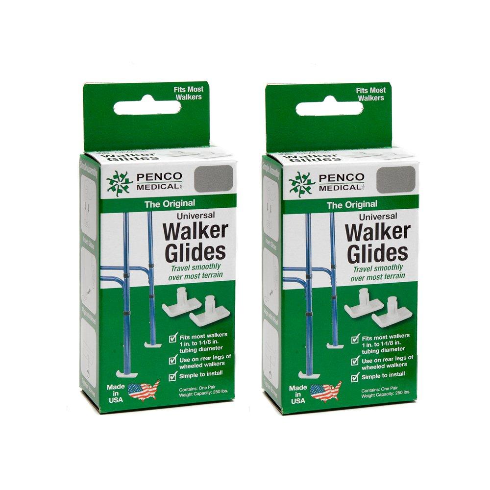 Penco Medical Universal Walker Glides - Silver Gray 2 Pairs