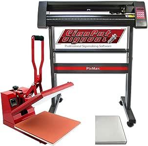 PixMax Prensa de Calor Maquina de Prensa de Calor Máquina de la sublimación de la transferencia de la prensa del calor de la camiseta, uso para industrial | 38cm x 38 xcm |