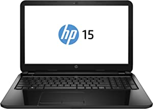 HP 15-F033WM 15.6-inch Notebook PC (2.16GHz Inte Celeron N2830 Processor, 4GB Memory, 500GB Hard Drive, DVD±RW/CD-RW, HD Webcam, Windows 8.1)