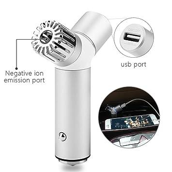OSCOO Auto Luftreiniger   Schließen Sie Lufterfrischer Ionizer Mit QC 3.0  Telefon Ladegerät An