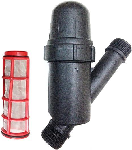 UxradG Filtro de riego para Jard/ín Filtro pulverizador de Malla DE 3//4 Pulgadas Color Negro