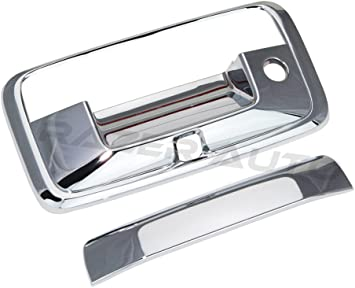 Chrome 4 Door Handle Cover+Tailgate Cover with Camera Hole for 2014 2015 2016 2017 2018 Chevy Chevrolet Silverado GMC Sierra CrewCab