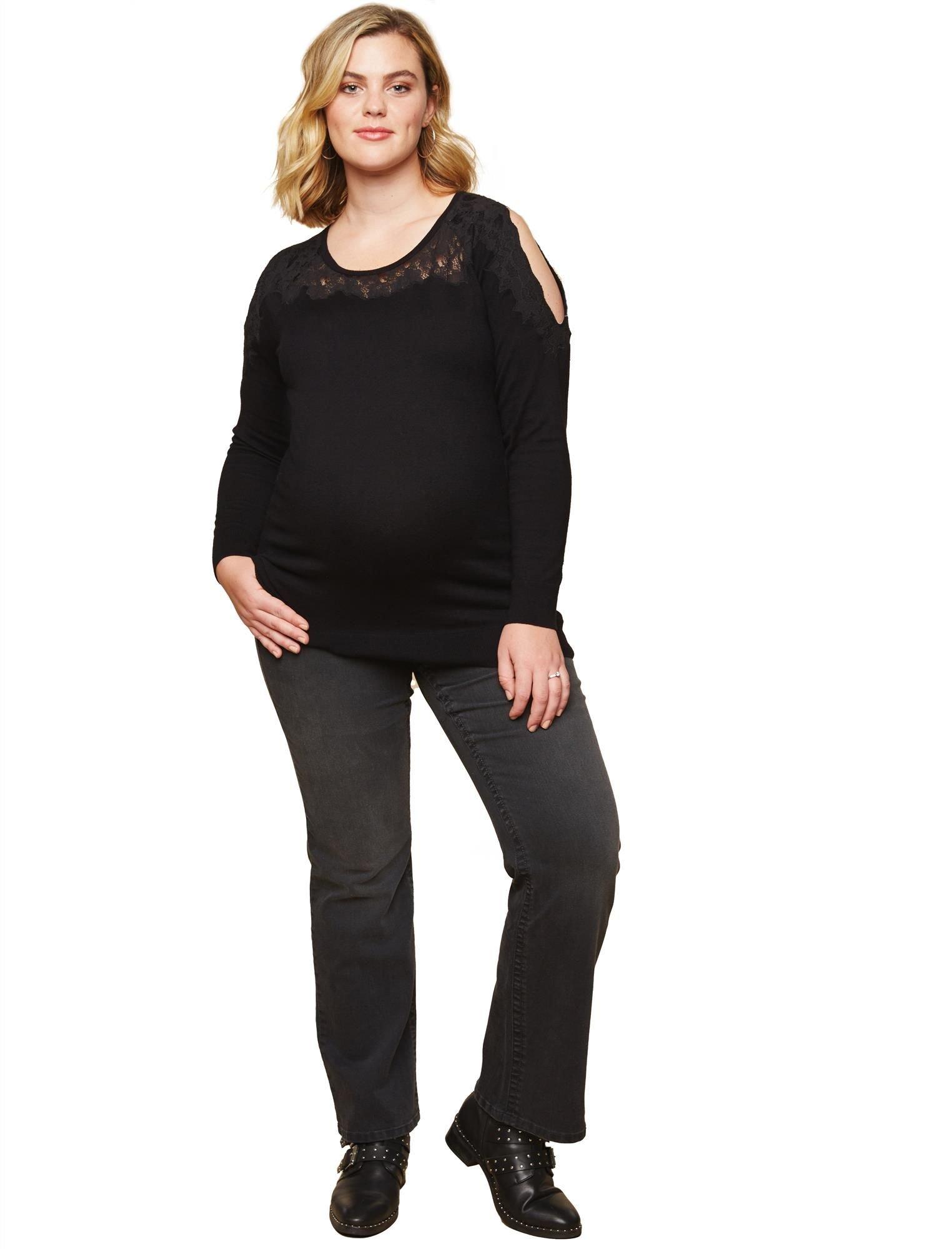 Motherhood Plus Size Secret Fit Belly Boot Cut Maternity Jeans