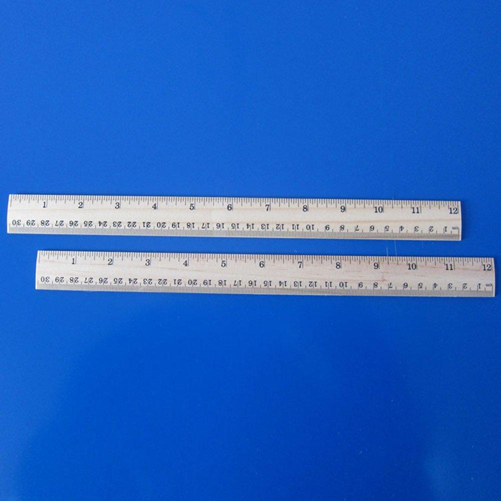 ufficio TOYMYTOY Righello di misurazione in legno righello di 20 pezzi con 2 scale per scuola studente 12 pollici e 30 cm