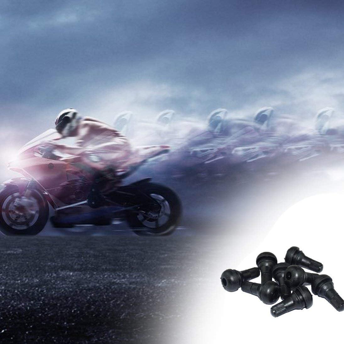 Set Snap-In Tige de Valve en Caoutchouc Noir TR412 pour Tubeless Trous de Jante 11.5mm Pneus de V/éhicules Tiges de Valves Roues Pneus Pi/èces WEIHAN 8pcs