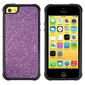 Suave TPU Caso Carcasa de Caucho Funda para Apple Iphone 5C / Glitter Snow Sky Stars Universe / STRONG