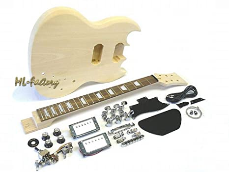 Guitarra Eléctrica/Guitar DIY Kit ML-Factory® MSG Standard: Amazon ...