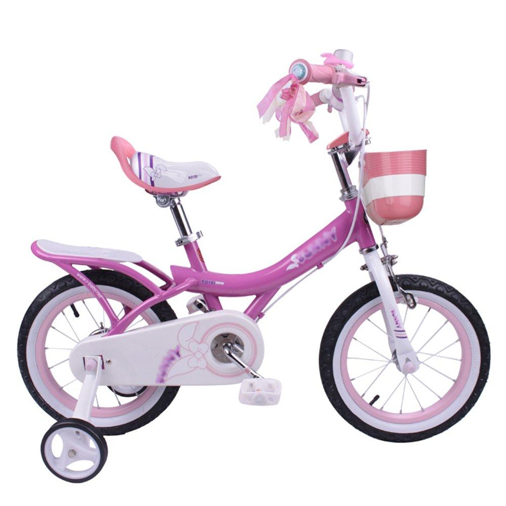 HAIZHEN マウンテンバイク 子供用自転車 ピンク、ライトピンク、紫 サイズ12インチ、14インチ、16インチ、18インチ アウトドアアウト 新生児 B07C6R917B 14 inch|パープル ぱ゜ぷる パープル ぱ゜ぷる 14 inch