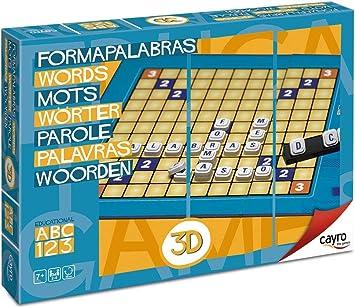 Cayro - Formapalabras 3D - Juego de razonamiento y Habilidades lingüísticas- Juego de Mesa - Desarrollo de Habilidades cognitivas y lingüísticas- Juego de Mesa (721): Amazon.es: Juguetes y juegos